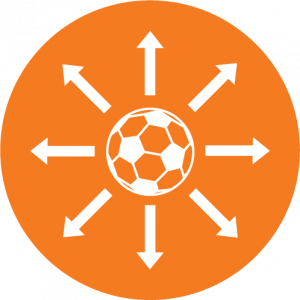 Vlak en strak voetbalveld
